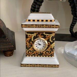 "Versace ""Barocco"" by Rosenthal Mini Clock"